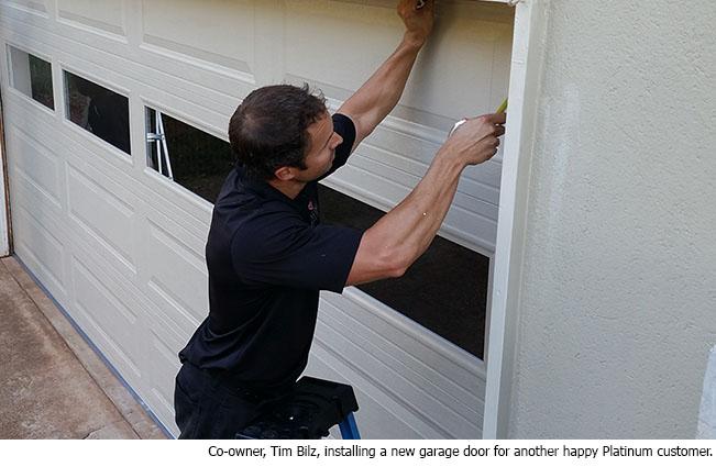 Garage door installation price quote platinum overhead door for Platinum garage doors